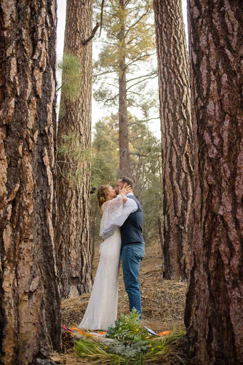 Alan & Heidi Big Bear Elopement Trees