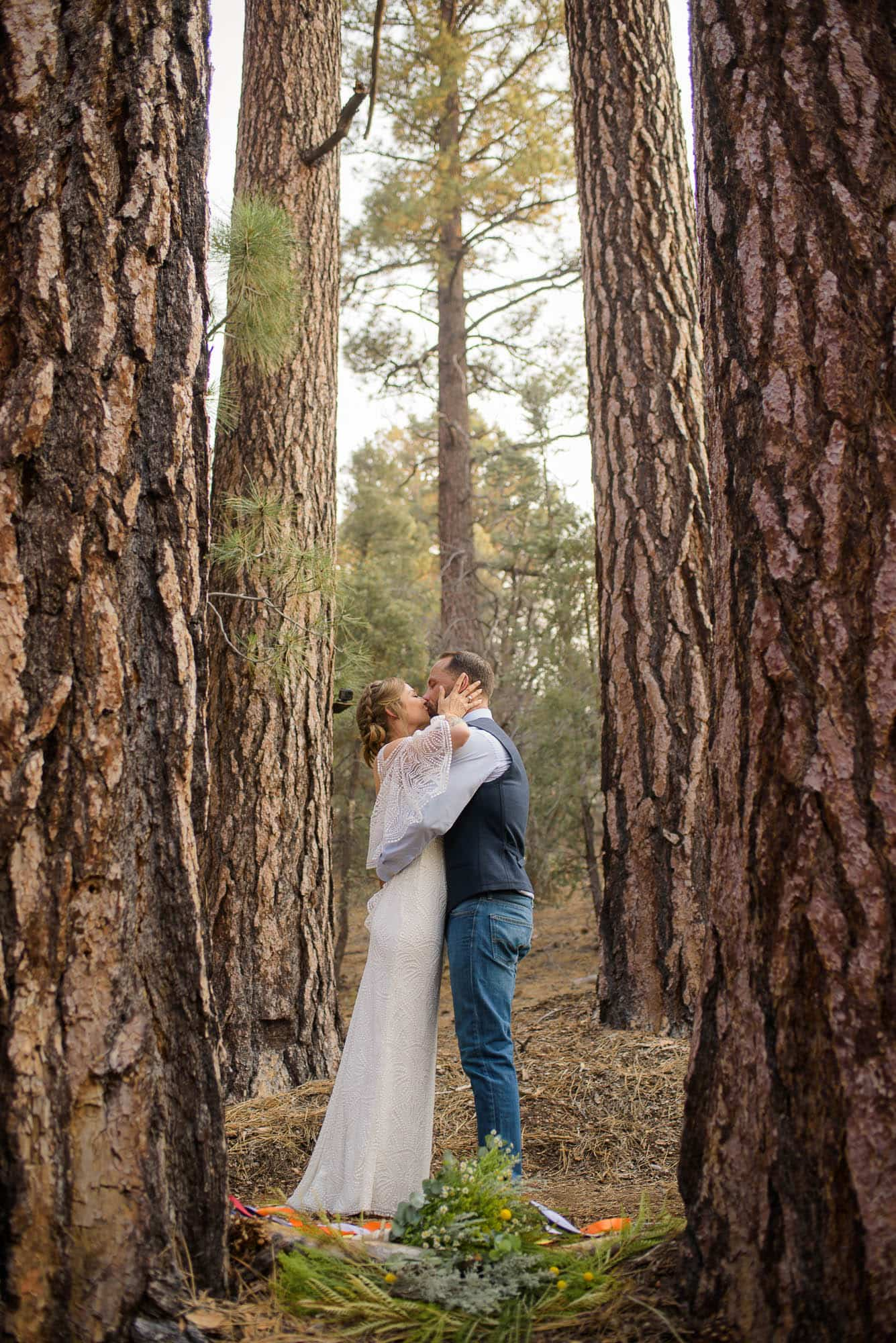 Alan & Heidi elopement big bear