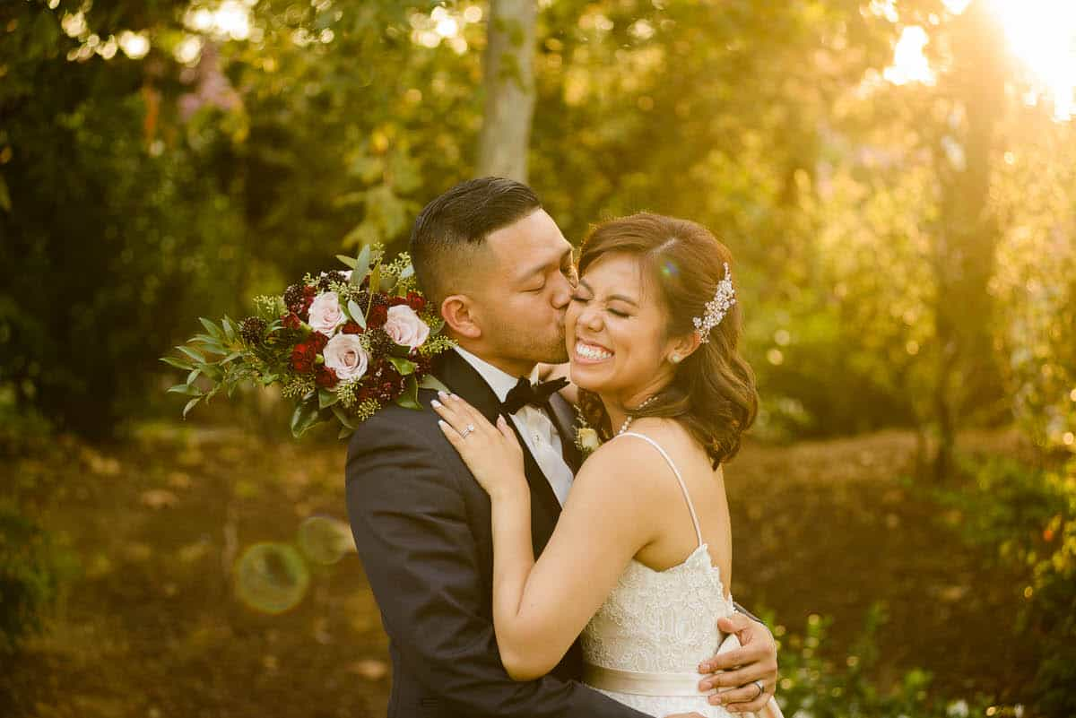 Alan & Heidi Gardens at Los Robles wedding